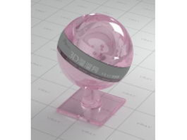 Light purple glass vray material