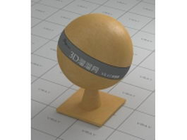 Yellow alabaster smooth leather vray material