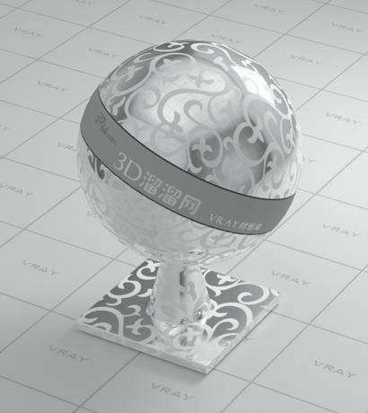 Silver Metal With Pattern Design Vray Material Cadnav Com