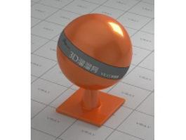 Non-metallic paint tangerine orange vray material