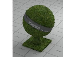 Lawn plant lawn grass vray material