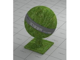 Green grass without vray fur vray material