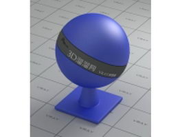 Light blue plastic vray material