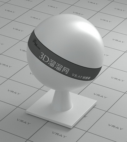 Silver plastic material rendering