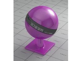 Purple polishing plastic vray material
