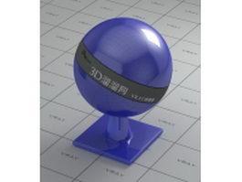 Medium blue polishing plastic vray material