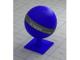 Blue matte plastic vray material