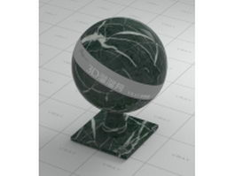 Moss agate green marble vray material
