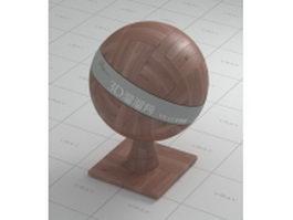 Wood block floor vray material