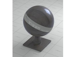 Polished african blackwood vray material