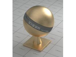 Brass ball vray material