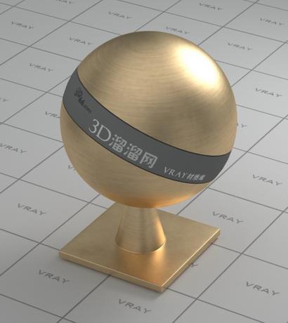 Brass ball material rendering