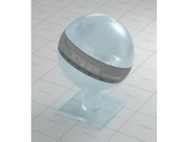 Light blue sandblasting glass vray material