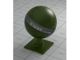 Dark green emulsification glass vray material