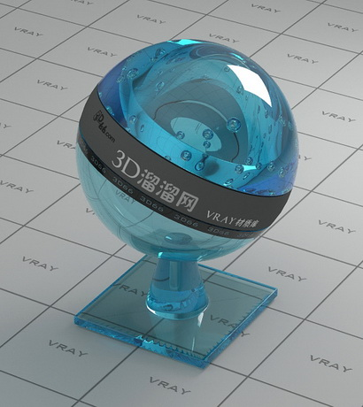 Ultra-thin sheet blue glass material rendering