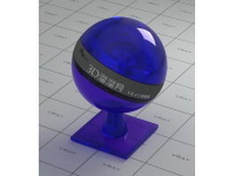 Blue polished glass vray material