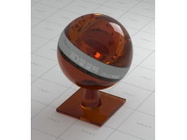 Tawny ophthalmic glass vray material