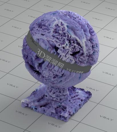 Soft ice-cream material rendering