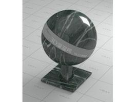 Dark green marble vray material