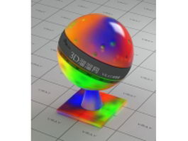 Multi-colored crystal vray material