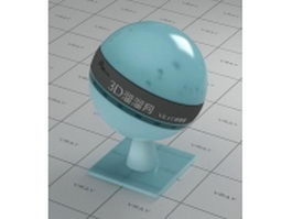 Light blue transparent plastic vray material