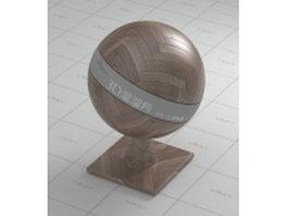 Wood parquet flooring vray material