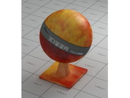 Red apple vray material
