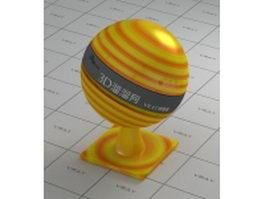 Rainbow-swirl lollipop vray material