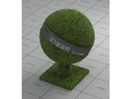 Manicured lawn vray material