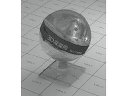 Colourless polycrystalline glass vray material