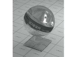 Vehicle headlight glass vray material