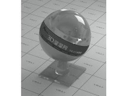 Grey organic glass vray material