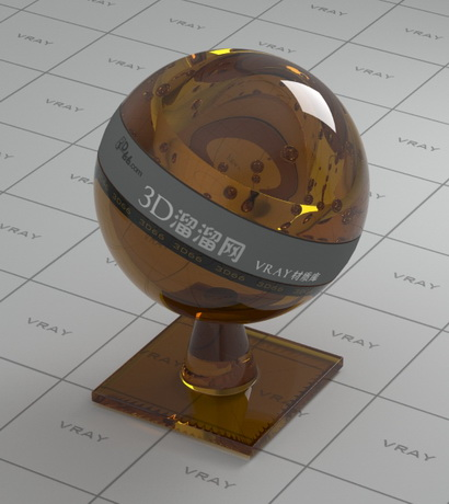 Brown decoration glass vray material for Mirror vray material