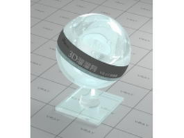 Shining iridescent glass vray material