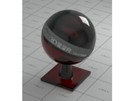 Red-black decoration glass vray material