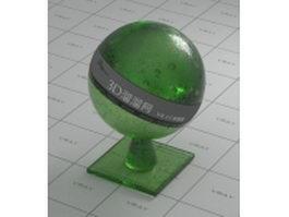 Decorative sandblasting glass vray material