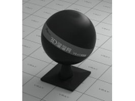Black rubber and plastic vray material
