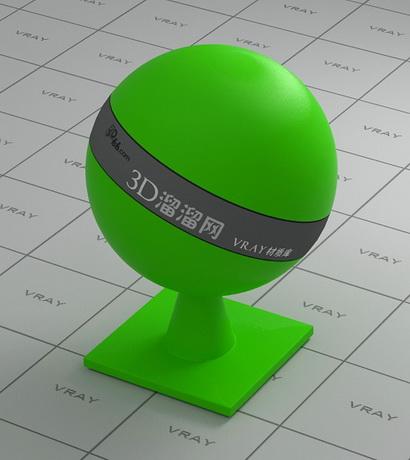 Green PAplastic material rendering