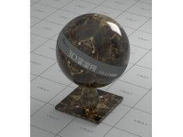 Gold Emperador marble vray material
