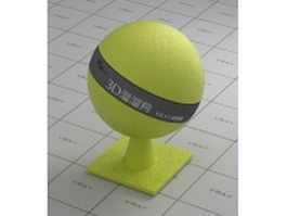 Yellow baseball leather vray material