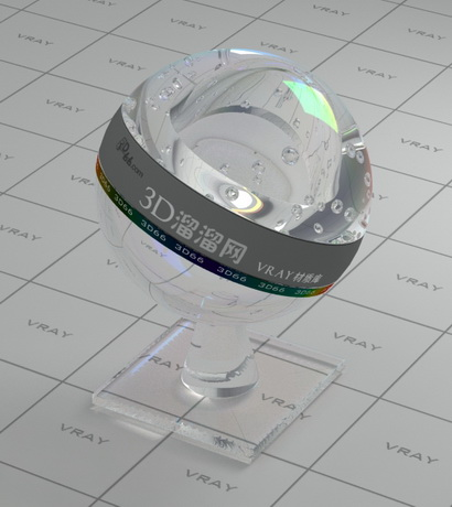 Water with bubble material rendering