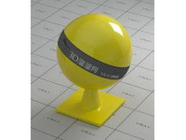 Metallic paint - polychromatic yellow vray material