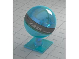 Baby blue polished glass vray material