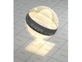 Light bulb lamp glass vray material