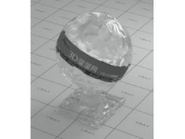 Distorted glass - blurred vray material