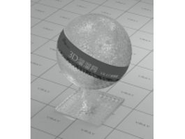 Colourless ornamental glass vray material