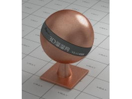 Fine copper - polished vray material