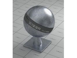 Tin metal vray material