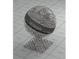 Metal mesh belt vray material