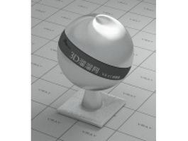 Satin finish aluminium alloy vray material
